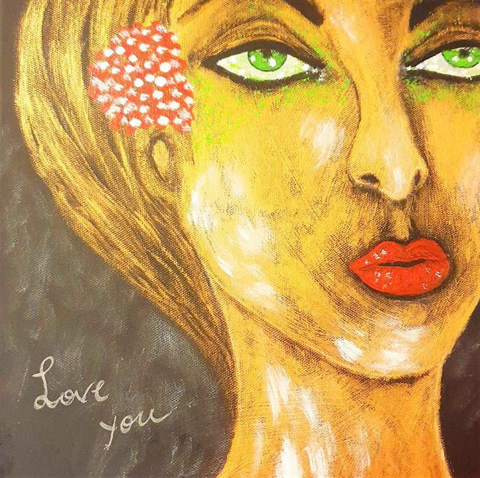 Moderna tavlor -Love You 30x30cm , Ej tillgänglig