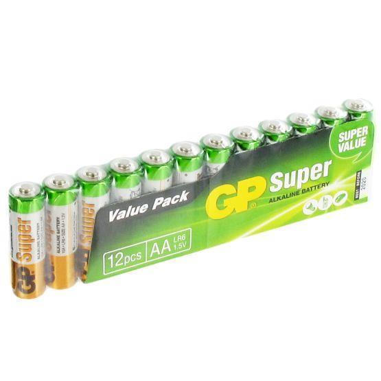 GP Super Alkaline 1.5V, Size AA, LR6, (12pack)