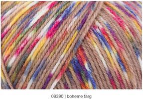 Flower power color 4-tr sockgarn