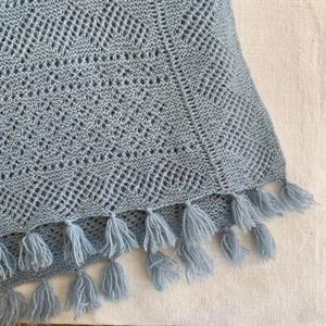 Hermannas sjal paket Blå duva 100% ull
