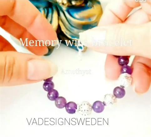 Memory wire bracelet -amethyst /armband