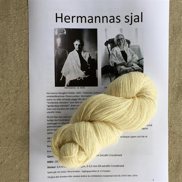 Hermannas sjal paket vit 100%ull