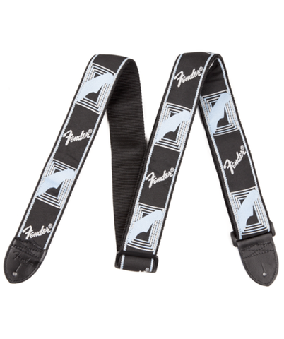 """Fender 2"""" monogrammed strap Black/grey"""