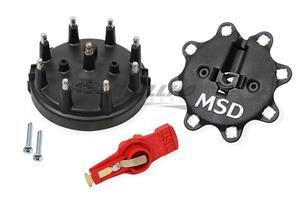 Blk, Dist. Cap/Rtr Kit, MSD/Ford V8 TFI