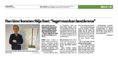 Hans Gothlins -  Borås Tidning 2018-03-24