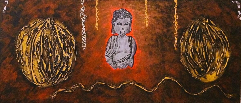 Abstrakt tavla-Förtroende 40*80 cm
