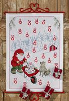 Julkalender Tomte med skottkärra
