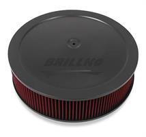 4150 DROP-BASE AIR CLEANER BLK W/ GAUZE