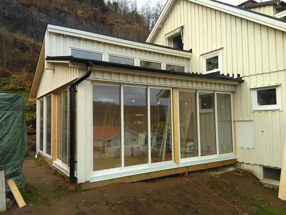 Utbyggnad av villa/ uterum