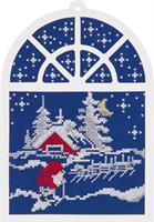 Jultavla/Fönstertavla stuga