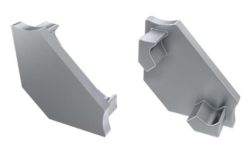 Ändlock grå Hörnprofil LUMINES C med hål