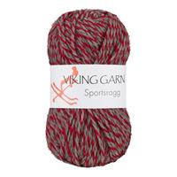 Viking Sportsragg slingrad röd grå