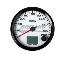 3-3/8 HOLLEY 200 GPS SPEEDO-WHT