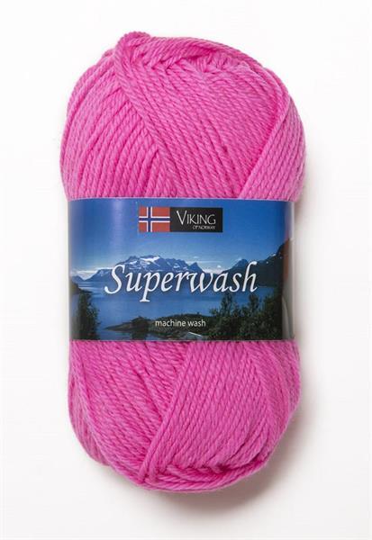 Viking Superwash neonrosa
