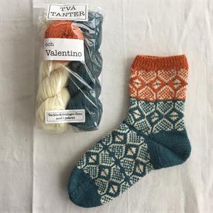 Två Tanter och Valentino / Havsgrön sockpaket
