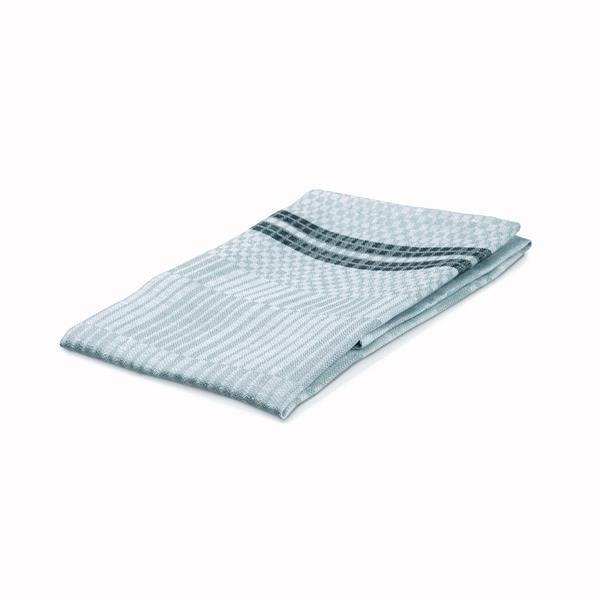 Handduk Domino isblå-vit