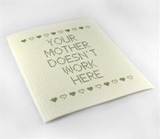 Disktrasa, Your mother doesnt, vit/grön text