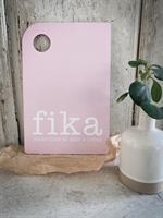 Skärbräda, Make time Fika, rosa/vit text