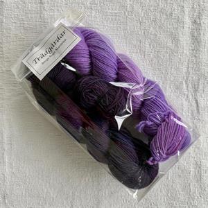 """""""Trädgårdar"""" Violett Sockpaket"""