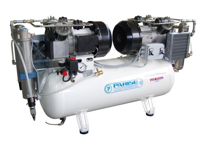 Öljytön mäntäkompressori P 100 OF2 P -RETBox