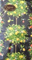 Buffet serviett Citrus black, 15stk 3lags