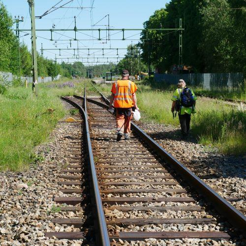 Vid inventering på Fristads station krävdes medverkan av SOS-ledare.