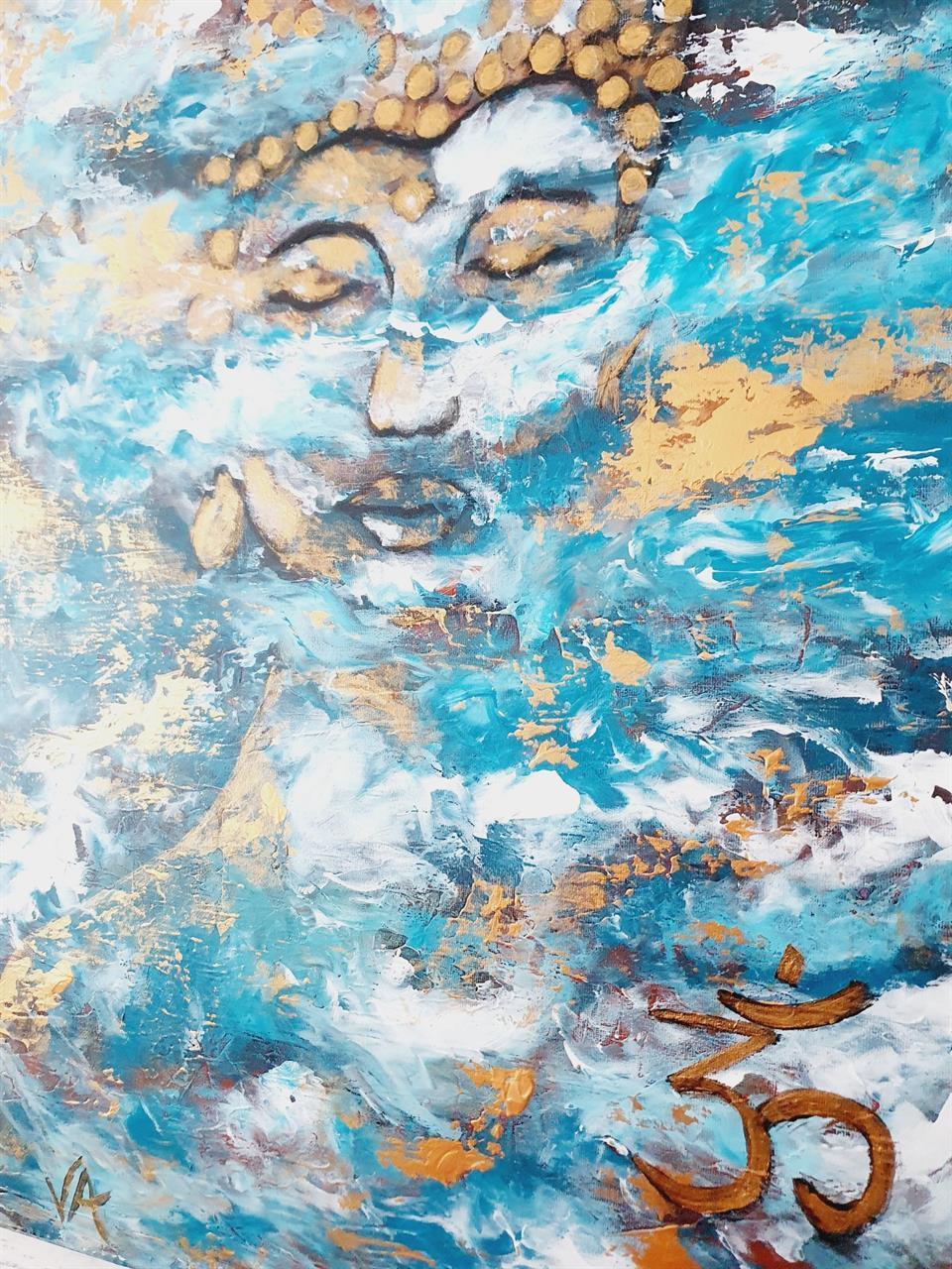 Tavla abstrakt Buddha /Peace of mind 70*50 cm