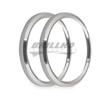 3-3/8 BEZELS, SILVER, PACK OF 2