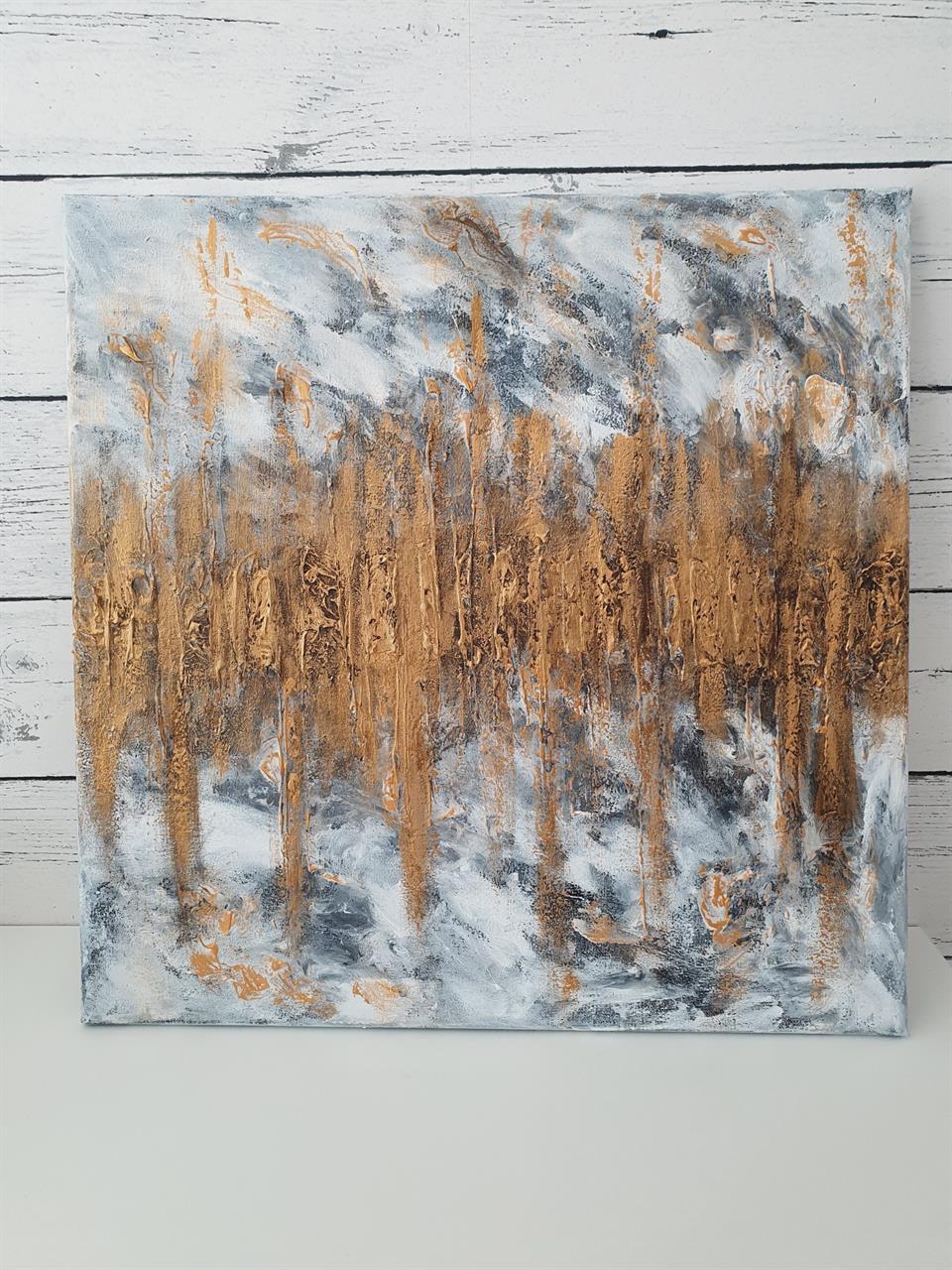 Tavla - gold  abstrakt