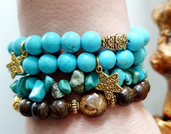 Braceles stone /Protection yogaarmband/ Bohostyle