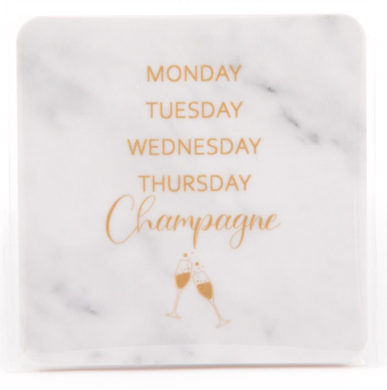 Magneter, Monday-Champagne, marmor/guldtext