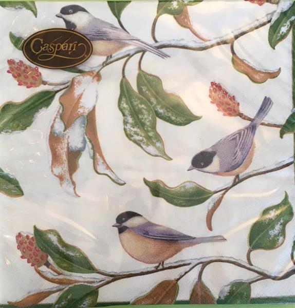 Lunsj serviett Chickadee and magnolia 20stk 3lags