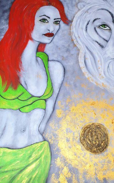 Moderna tavlor-The power it´s in your heart, 100 x 80 cm