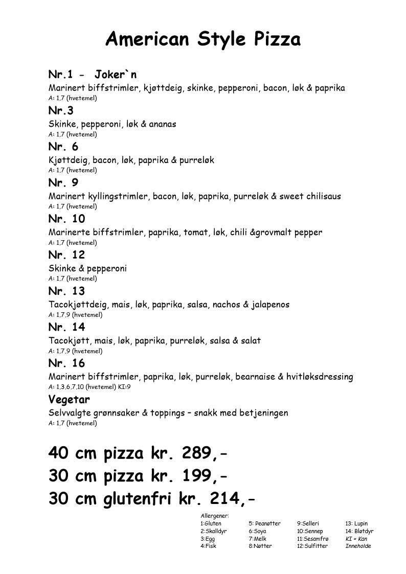 Amerikansk Pizza