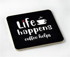 Magneter, Life happens, svart/vit-röd text