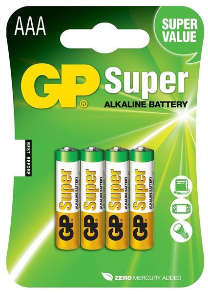 GP Super Alkaline 1.5V, Size AAA, LR3