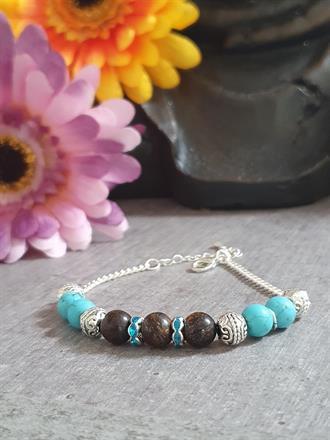 Memory wire bracelet /turkos/ armband