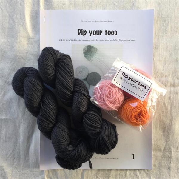 """""""Dip your toes"""" Rosa - Grafit sockpaket"""
