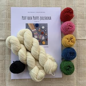 """""""Piff och Puffs Julsocka"""" materialpaket"""
