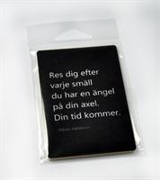 Magneter, Res dig, svart/vit text