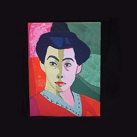 """""""Madame Matisse"""" applikation, 42x50"""