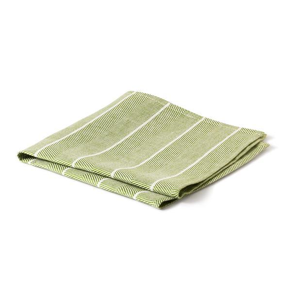 Servett Fiskben bladgrön-vit