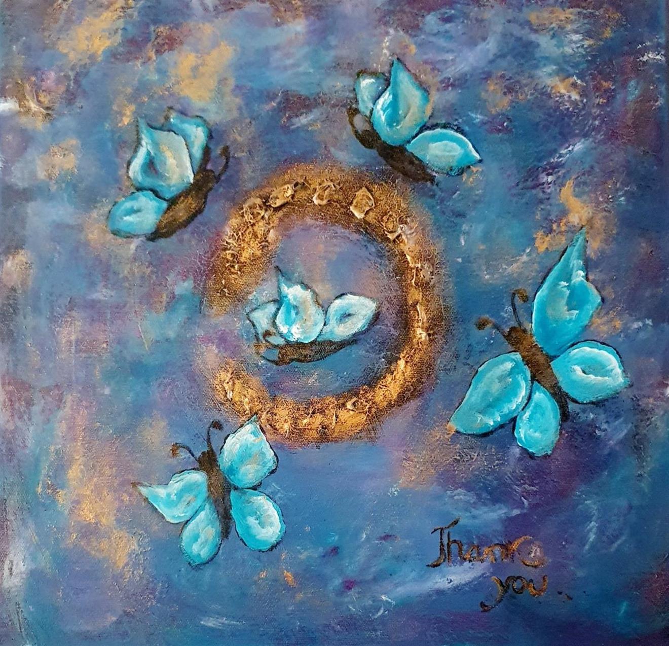 Tavla -Fjärilar 3 /I can fly ,40*40 cm
