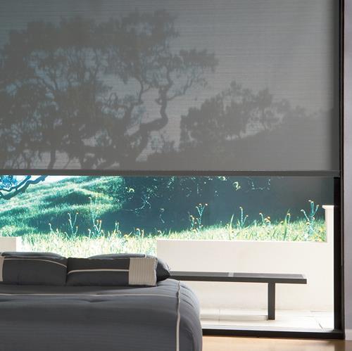 Screen-rullaverho Leveys 140 cm Harmaa