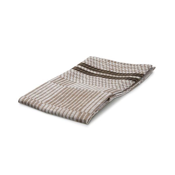 Handduk Domino brun-vit