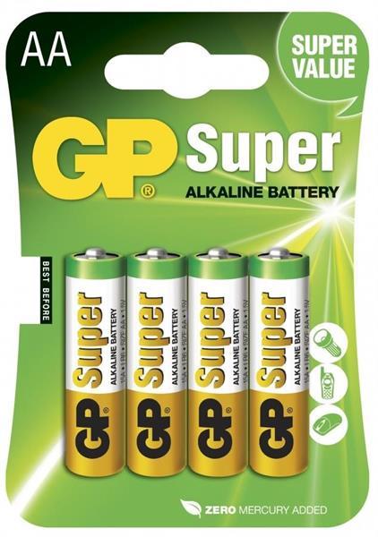 GP Super Alkaline 1.5V, Size AA, LR6
