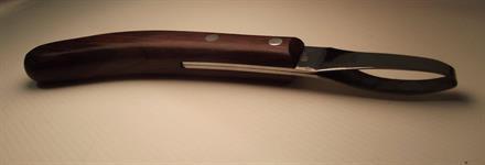 ICAR Hoof Knife Loop Mahogany Handle