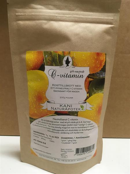 C-vitaminpulver PH-neutralt 200g Miljöförpackning