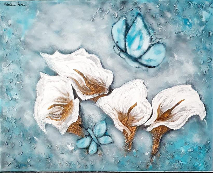 Tavla blommor-The heart of the flower 50 x 40 cm.