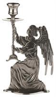 Italiensk antikksølv-stake engel h-25cm